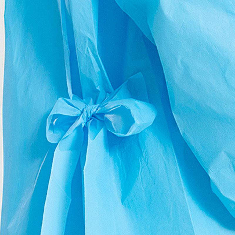 NON STERILE ISOLATION GOWN- AAMI LEVEL 3 BLUE (STERILE/NON STERILE) SG1389-B Four Laces